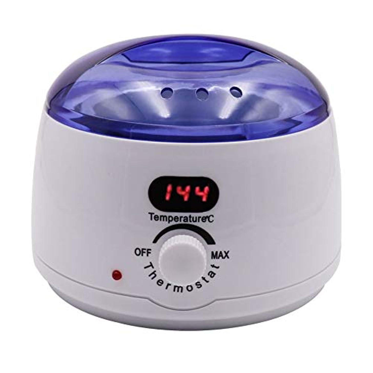 純粋なアグネスグレイエンコミウム脱毛、デジタル表示温度メルティングワックスポットインテリジェント加熱多機能ホームワックスマシン女性/男性500CCのための専門の電気ワックスウォーマーヒーターメルター