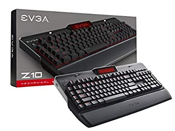 EVGA Z10 Gaming Keyboard Red Backlit LED Mechanical Brown Switches Onboard LCD Display Macro Gaming Keys 802-ZT-N101-KR [並行輸入品]