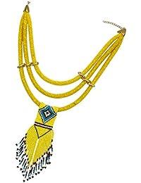 FLAMEER レトロ風 レディース ペンダント 鎖骨チェーン チョーカー おしゃれ ファッション 全6色 - 黄