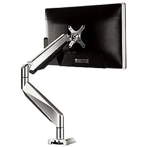 ロックテックLoctek 液晶LCDモニターアーム イヤホン&マイク&USB端子付き10-27インチ対応 デスクマウント D7A