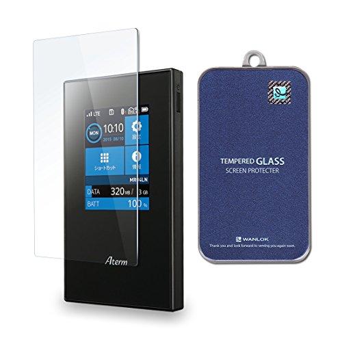 WANLOK 安心4点SET付 大きめサイズ Aterm MR04LN モバイルルーター 0.2mm ガラスフィルム 実機確認済 保護フィルム 強化ガラス 高透過率 指紋防止 気泡レス 飛散防止 国内正規流通品 AtermMR04LN
