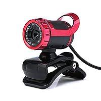 aobiny HDカメラWeb Cam USB 12メガピクセル360° MicクリップオンforコンピュータノートパソコンPC