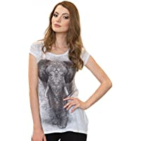 Sweet Gisele Elephant Inspired Bling-Embellished Tunic Shirt