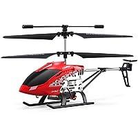 JJR/C JX01ジャイロメタル2.4Gラジオ3CHミニヘリコプターRCリモートコントロールフライングドローンおもちゃギフトプレゼントRTF(色:赤)