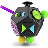 Fidget Dodecagon –12-Side Fidget Cube Relieves Stress and Anxiety Anti Depression Cube for Children and Adults with ADHD ADD