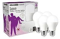 MiracleLED Nature 's Vibe Love Emotion強度照明LEDライト電球 4 Pack 604228 4