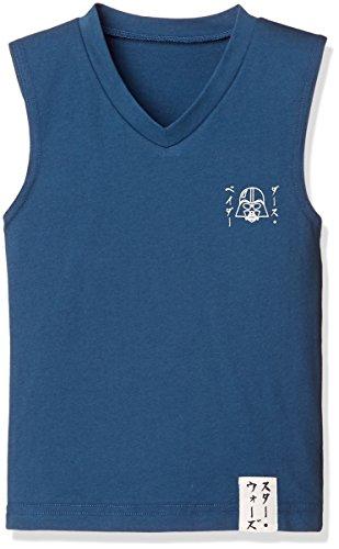 スターウォーズ和調ランニングシャツ ボーイズ ネイビー 日本 130 (日本サイズ130 相当)