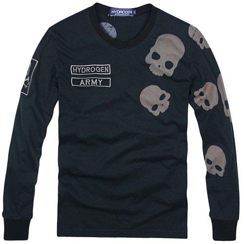 (ハイドロゲン)HYDROGEN ロンT 長袖 Tシャツ メンズ スカル ブラック L 並行輸入品