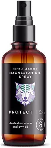 Caim & Able Magnesium Oil Spray Bottle PROTECT Lavender & Rosemary Essential Oils 125ml - Australian Made Pure Amazing Ancie