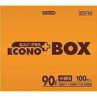 サニパック E-94エコノプラスBOX90L半透明 100枚 E94HCL