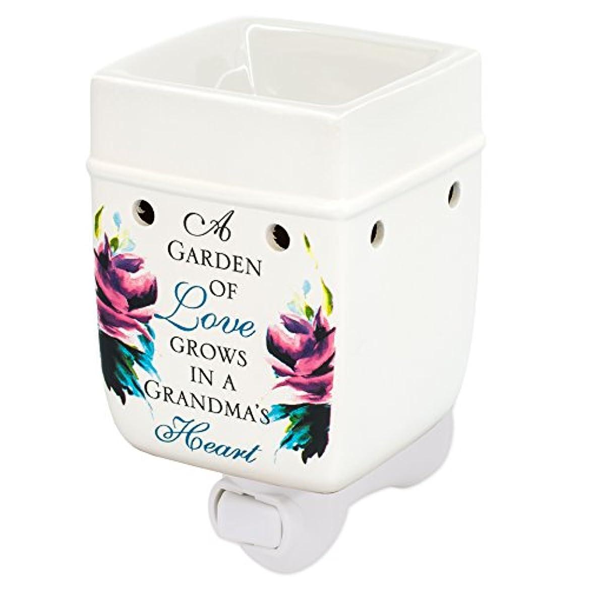 梨ベックスクラスおばあちゃんの庭LoveセラミックStoneware ElectricプラグインコンセントワックスOil Warmer