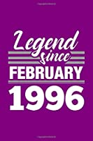 Legend Since February 1996 Notebook: Lined Journal - 6 x 9, 120 Pages, Affordable Gift, Purple Matte Finish