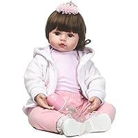 SanyDoll Rebornベビー人形ソフトSilicone 22インチ55 cm磁気Lovely Lifelike Cute Lovely Baby b0763lv21 W