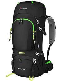Mountaintop 60L 登山リュック ハイキング バックパック バッグ 大容量 レインカバー付き 撥水 リュックサック キャンプ トレッキング 旅行 アウトドア