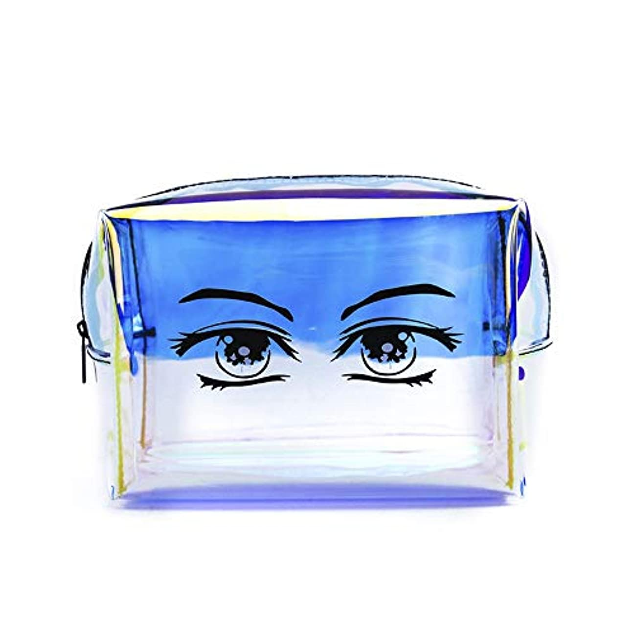 大量習字小説家化粧オーガナイザーバッグ 化粧品の化粧ブラシのためのレーザーの携帯用ジッパーの収納袋専門旅行構造袋旅行付属品の大容量の防水洗浄袋 化粧品ケース (色 : Laser, サイズ : 18x9.5x12cm)