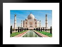 Pyramid America Taj Mahal Agra Uttar Prades India Palace White Marble Mausoleum Monument 20x26 inches ブラック 306940
