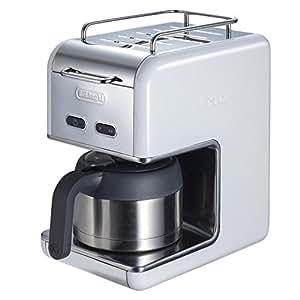デロンギKmix ドリップコーヒーメーカー プレミアムCMB5T-WH ホワイト白(ステンレス保温ポット・ゴールドフィルター)