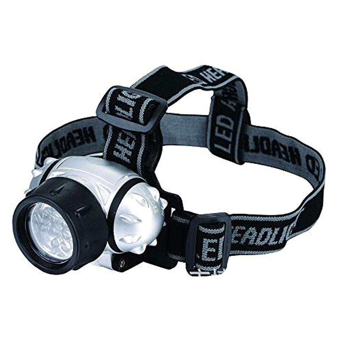きょうだい露骨なスピーチ7 LEDヘッドトーチ、キャンプランニングハイキングや読書のための電池式ヘッドランプ、4明るさモード屋外ヘッドトーチ