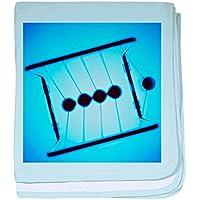 CafePress – ニュートンのクレードル – -スーパーソフトベビー毛布、新生児おくるみ ブルー 079321095125CD2