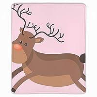 デザイン クリスマスの鹿 マウスパッド 抗菌