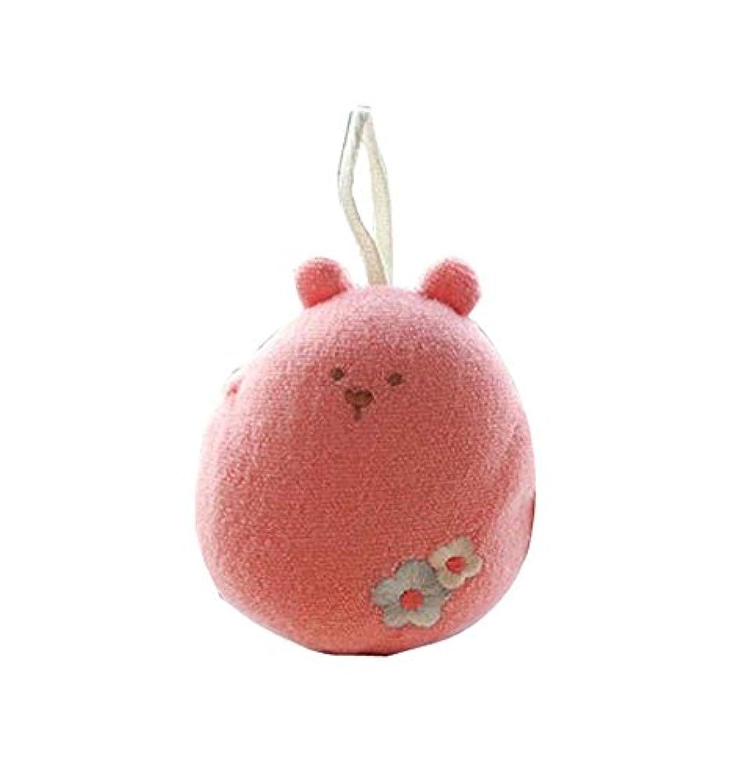純粋に単独で充電柔らかくて丈夫な新しいベビーバスボールバスタオルベビーバススポンジ、ピンク