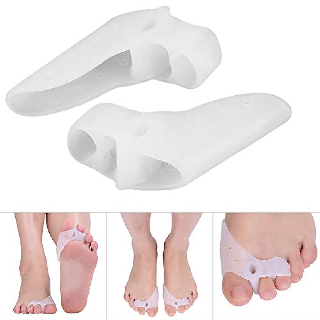 磁気発明するスクラッチ足首装具、矯正足用の2ペアジェルトウセパレーター
