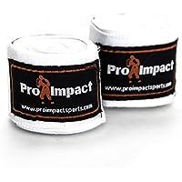 Pro Impact ボクシング/MMA ハンドラップ 180 メキシカンスタイル 伸縮性 1組 ホワイト