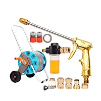 Kehuitong 家庭用高圧洗浄車のウォーターガン、配水管収納ラック、フォームじょうろ、じょうろセット 高品質の製品 1 (Shape : 2, Size : 20m)
