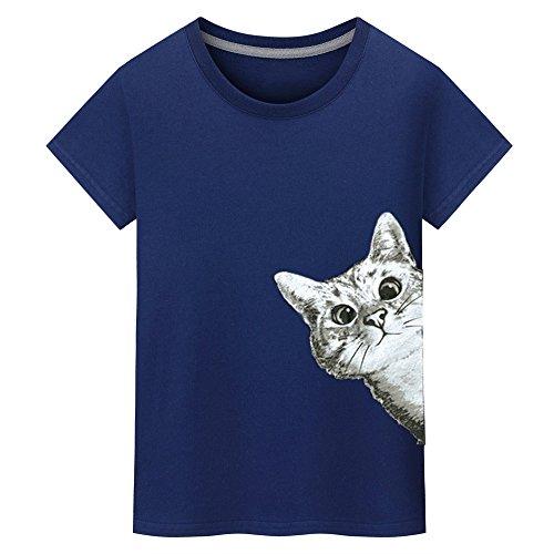 tシャツ Hosam メンズTシャツ 白t 猫 可愛い おも...