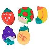 ノーブランド品  約100個 お買い得! ミニ 超可愛い フルーツ形 カラフル 消しゴム 学生 子供キッズ 贈り物
