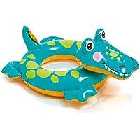 2歳から6歳の子供子供インフレータブル動物泳ぐ水泳水泳プールフロートおもちゃ - (送信エアポンプ) (色 : Small crocodile)