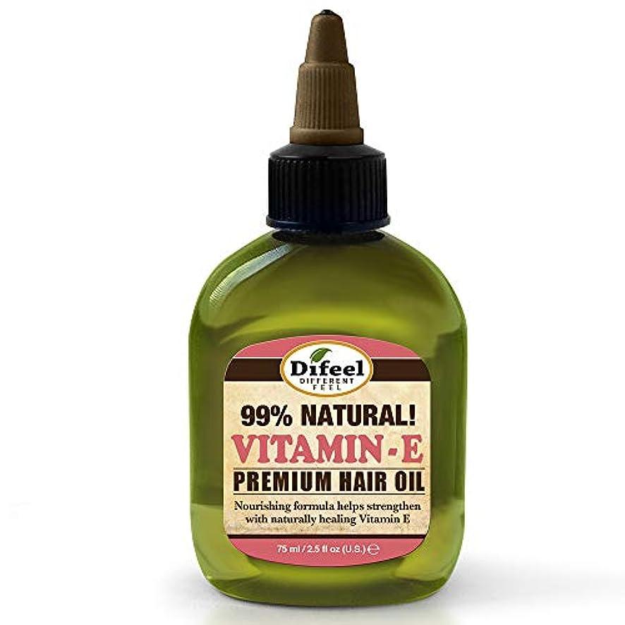 好きである受粉する分数Difeel ビタミンEオイルプレミアムナチュラルヘアオイル70g(6パック)