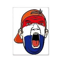 オランダの旗の顔の化粧マスクを叫んでいるキャップ 台所のタイルタイルが装飾を飾る