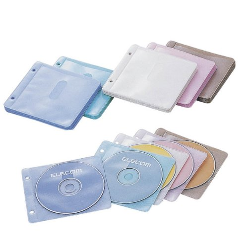 エレコム 不織布CD DVDケース CCD-019L5C 1パック100枚
