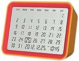 モトデザイン MONDO デジタルカレンダークロック(オレンジ) DT06-OR