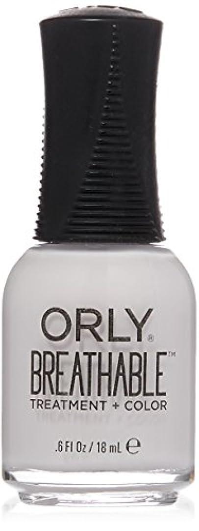 ベンチ食事引き付けるOrly Breathable Treatment + Color Nail Lacquer - Barely There - 0.6oz / 18ml