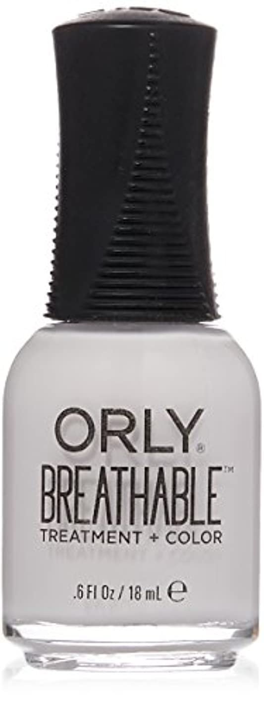 ハイキング広告主冊子Orly Breathable Treatment + Color Nail Lacquer - Barely There - 0.6oz / 18ml