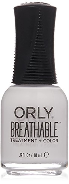 余計な感情キャッチOrly Breathable Treatment + Color Nail Lacquer - Barely There - 0.6oz / 18ml