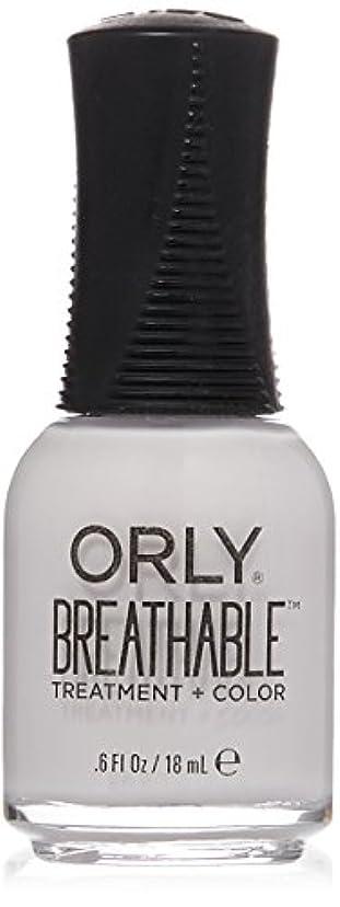 低下血まみれ先例Orly Breathable Treatment + Color Nail Lacquer - Barely There - 0.6oz / 18ml