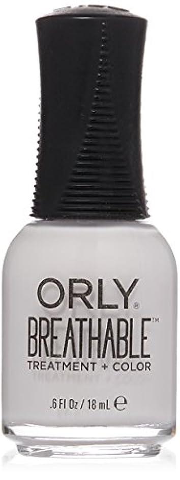 ベジタリアンラップトップ風景Orly Breathable Treatment + Color Nail Lacquer - Barely There - 0.6oz / 18ml