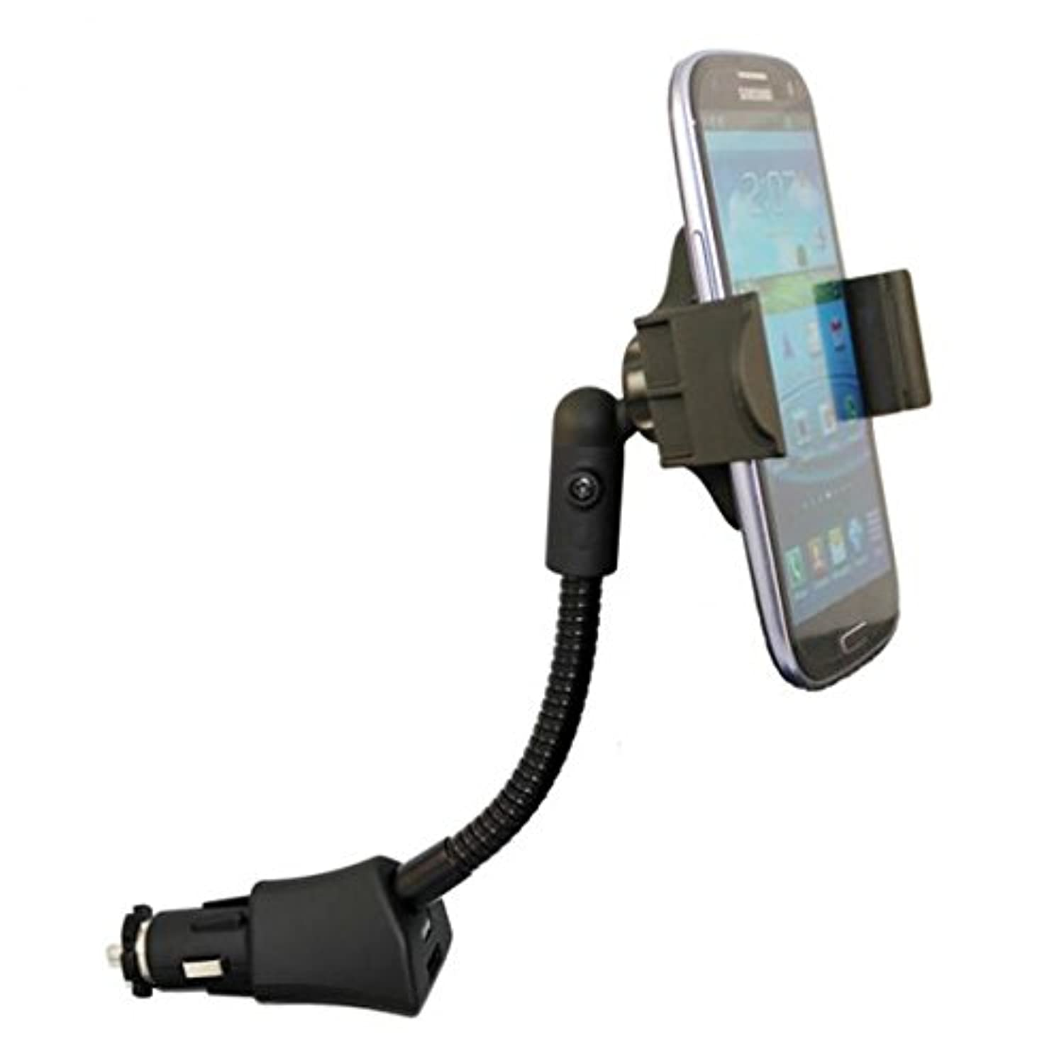 車マウント充電ソケットホルダーUSBポートDock Cradle Gooseneck Swivel for AT & T Samsung Galaxy s8 – At & t Samsung Galaxy s8アクティブ – At & t Samsung Galaxy s8 + – AT & T Samsung Galaxy s9 (g960uzpaatt)