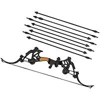 【ノーブランド 品】1/6スケール 弓 8本矢印付き 兵士 武器 モデル おもちゃ アクションフィギュア 贈り物