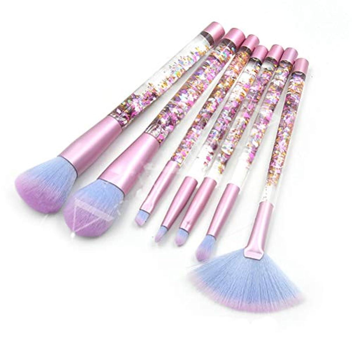 病気心配労働LSHJP 化粧ブラシ 7個セット 化粧道具 レディース ビューティー きれいめ 簡単 カジュアル 便利 お出かけ 高品質 (Color : RedDebrisBlue, Size : ワンサイズ)