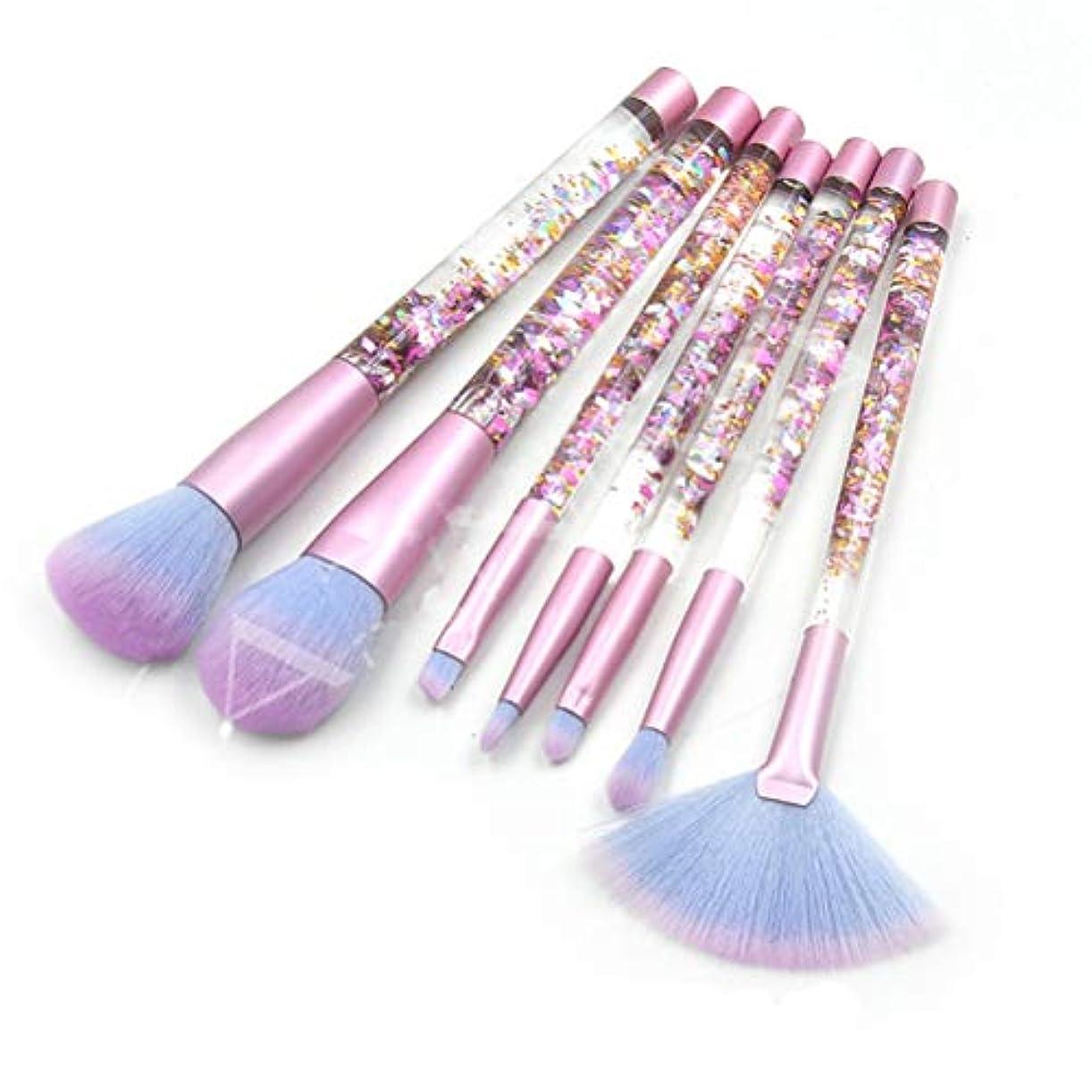 屋内でスプレーギャザーLSHJP 化粧ブラシ 7個セット 化粧道具 レディース ビューティー きれいめ 簡単 カジュアル 便利 お出かけ 高品質 (Color : RedDebrisBlue, Size : ワンサイズ)