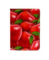 Anmumi パスポートケース パスポートカバー スキミング防止 カード入れ リンゴ 果物柄 かわいい オシャレ 撥水 防塵 PUレザー 革 旅行 出張
