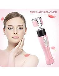 顔の毛の除去電気かみそりの顔の唇の顎の頬のかみそりの痛みのない専門の顔の毛の取り外しの女性の脱毛器の毛の取り外しの女性の顔
