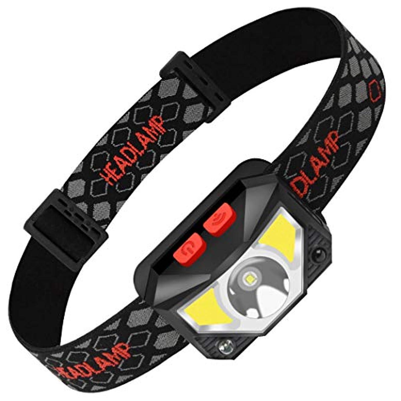 あいまいさ非常に怒っています同意するHSBAIS 白と赤の灯LED、センサー USB 充電式、高輝度 防水 ヘルメットライト ヘッドランプのコンパク ヘッドライト,black
