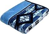 西川(Nishikawa) 毛布 ブルー シングル 140×200㎝ あったか 洗える 衿つき 合わせ ふっくらやわらか 2CY3023