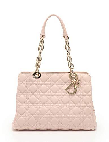 (クリスチャンディオール) Christian Dior ディオールソフト カナージュ トートバッグ ラムスキン ピンク M0959PCAL 中古