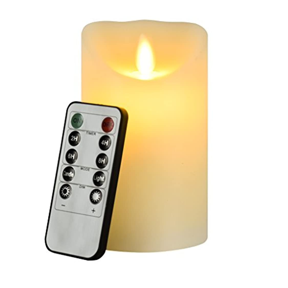 クリップブリードキャラクターFlameless Candle、Eyourlife LEDキャンドル4インチフレイムレスキャンドルアイボリークリスマスCandle ElectricちらつきFlameless Candleでリモート制御タイマー電池式ピラーキャンドル